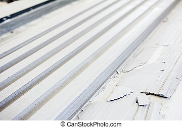Surface of rows in gypsum moldings