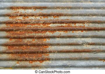 rusty galvanized iron