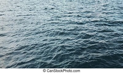 Surface of the sea from a the overseas bridge.