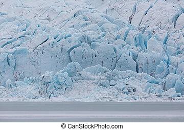 surface of Vatnajokull glacier at Fjallsarlon lagoon