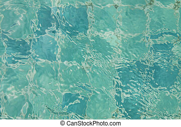 surface of water in the pool