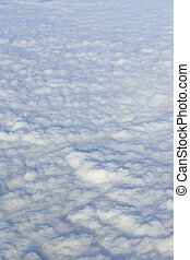 Surface of white clouds, aerial photography.