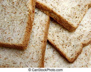 surface of whole wheat bread for background