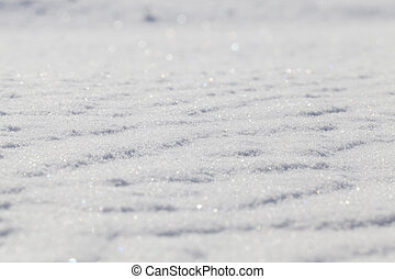 Surface snowdrifts, winter me