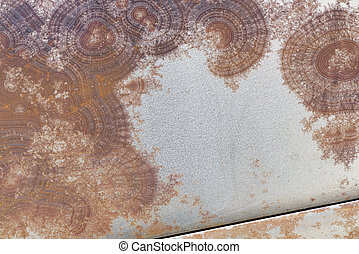 Surface texture of rusty metal. Abstract background