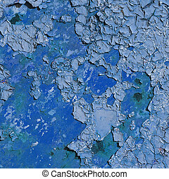 Surface with old blue paint - square texture