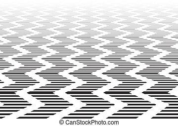 surface., zigzag, textured