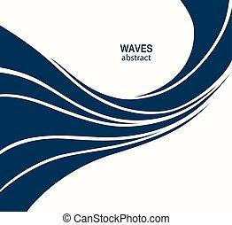 surfar, c, abstratos, logotype, onda, água, cosméticos, logotipo, desporto, design.
