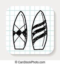 surfar, doodle, tábua