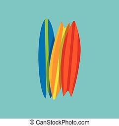 surfar, jogo, praia, recreação, férias