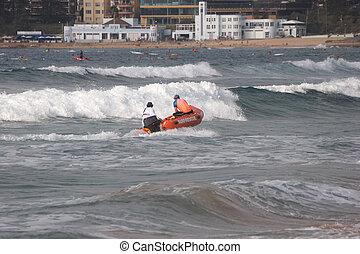 surfar, salvamento