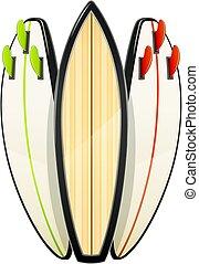 surfar, sutfing., inventories., desporto, tábua