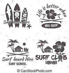 surfar, teia, escola, jogo, útil, illustration., também, clube, vindima, labels., aplicação, infographics., retro, vetorial, interface, móvel, desenho, emblemas, design.