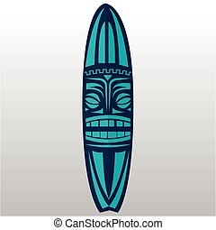Surfboard - Isolated surfboard with a texture on a white...