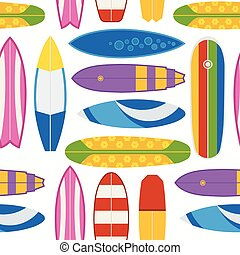 Surfboard Pattern Background
