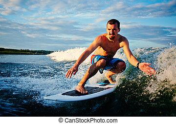 surfboarder, mar