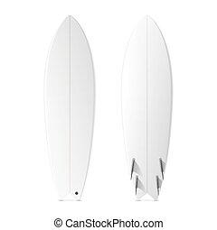 surfboards, em branco