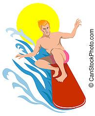 surfen, der, große wellen