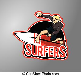 Surfer boy design illustration