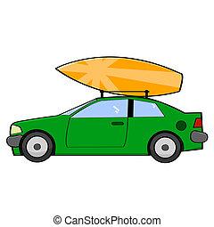 Surfer car