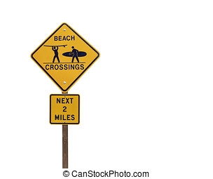 Surfer Crossing Caution Sign