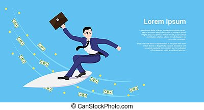 surfer, homme affaires