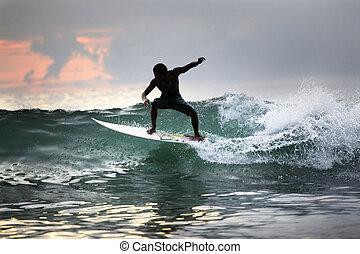 surfer, oceano