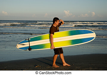 Surfer on the beach