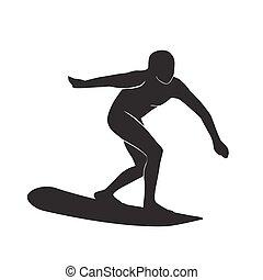 surfer silhouette icon