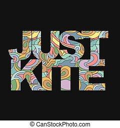Surfer typography, kite surf t-shirt graphics, vectors