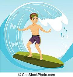 surfer, uomo
