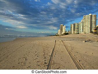 surfers, australia, spiaggia, paradiso