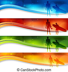 Surfers Blue Light Banner