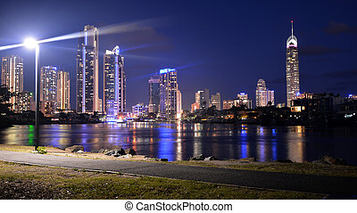 Surfers Paradise Skyline -Queensland Australia - Surfers...