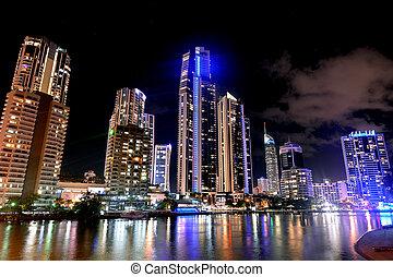 Surfers Paradise Skyline -Queensland Australia - Surfers...