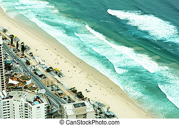 surfers, spiaggia, paradiso