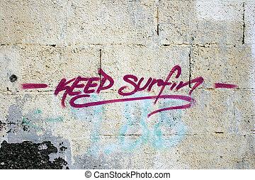 surfin, grafitti
