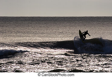 surfing 01 - Surfing the break at Haumoana Beach, Hawke's ...