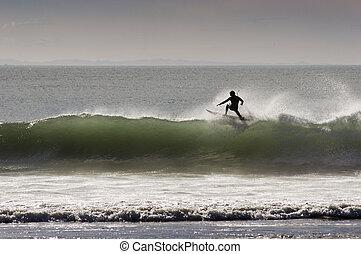surfing 09 - Surfing the break at Haumoana Beach, Hawke's ...