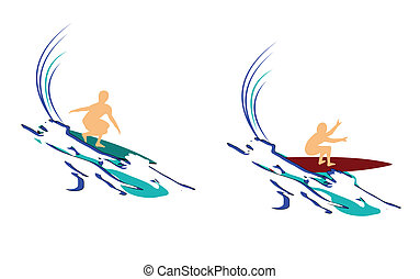 surfing abstract