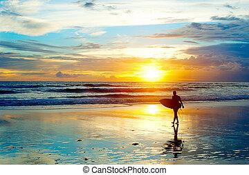 surfing, bali