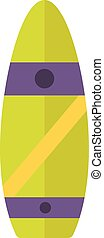 Surfing board vector illustration.