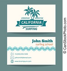 Surfing card template