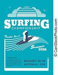 Surfing championship poster