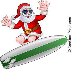 surfing, duchy, boże narodzenie, święty, chłodny