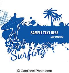 Surfing grunge scene