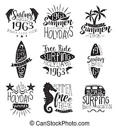 Surfing Holidays Vintage Stamp Collection