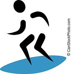 Surfing icon surfer