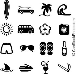 Surfing Icons - This image is a illustration and can be ...