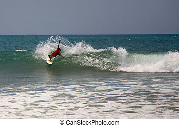 Surfing in arugam bay, Sri Lanka